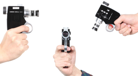 Ikke et stort kamera, selv med pistolgrep.