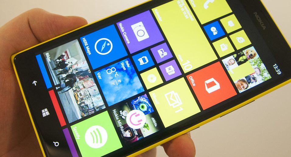 Nokias Lumia 1520 kjører Windows Phone 8. Er du utålmodig kan du oppgradere til versjon 8.1 allerede.