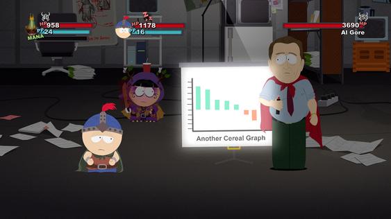 Al Gore bruker sitt «Kjedelig powerpointpresentasjon»-angrep. (Bilde: Gamer.no).