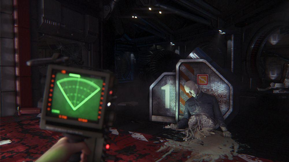 Jeg ser ikke romvesenet på måledingsen min, men føler meg ikke spesielt trygg likevel. (Bilde: Sega).