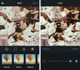 Slik ser den nye Lux-funksjonen ut.