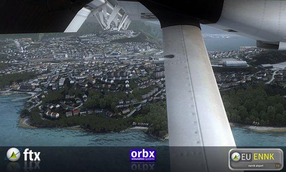 Skjermbilde fra den kommende Narvik-utvidelsen. (bilde: Orbx).