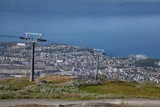 Stranden var også på toppen av Narvik-fjellet for å ta bilder derfra.