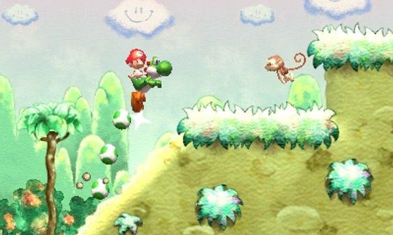 Selv ikke apene kan hoppe høyere enn Yoshi. (Bilde: Arzest/Nintendo).