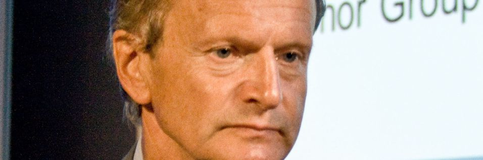Konsernsjef Jon Fredrik Baksaas i Telenor har investert 22 milliarder kroner i India. Foreløpig vurderes verdien av investeringen til 4,5 milliarder kroner.