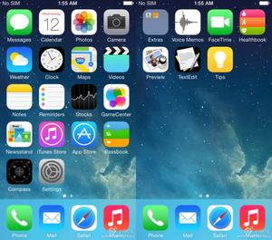 Dette kan være ett av de første skjermbildene fra iOS 8.