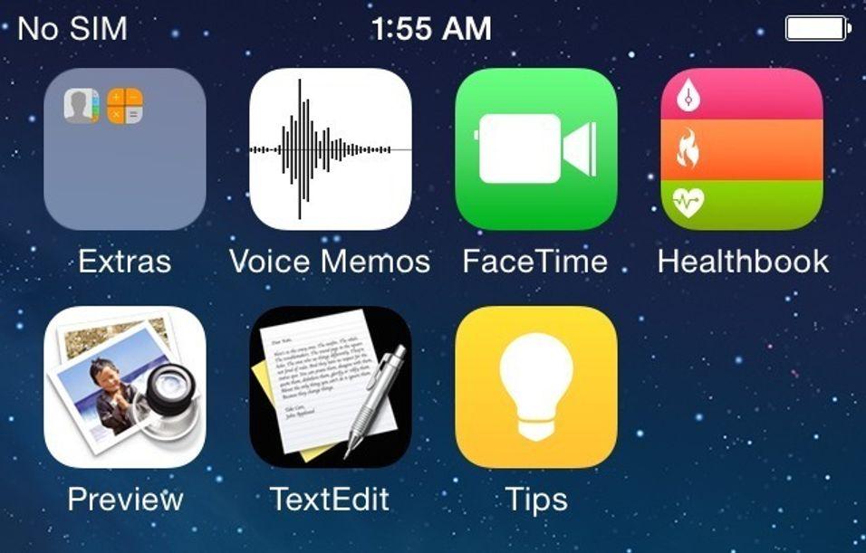 Dette kan være de første skjermbildene fra iOS 8