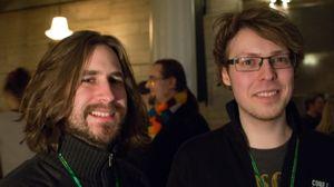 Moondrop består av Stig-Owe Sandvik (t.v.) og Andreas Fuglesang. Foto: Audun Rodem, Gamer.no.