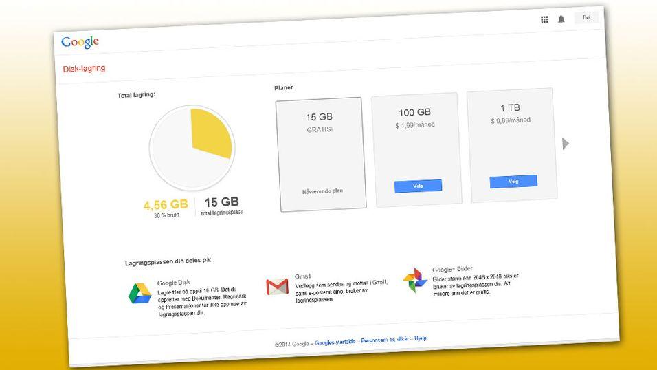 Google er klart billigst av de store på skylagring.