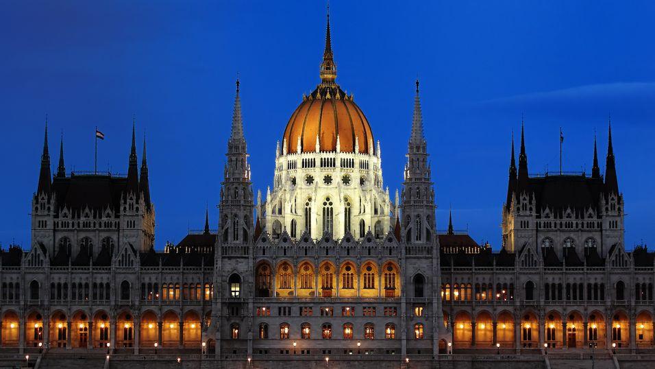 Det ungarske parlamentet i Budapest.
