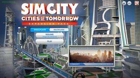 Slik er den nye hovudmenyen i SimCity.