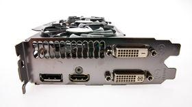 Gigabyte GeForce GTX 780 GHz Edition har de samme tilkoblingene som alle kort i sin familie.