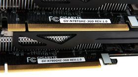 Disse klistrelappene er den enkleste måten å skille de Gigabyte sine GeForce GTX 780 og GTX 780 Ti fra hverandre på.