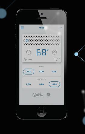 Appen du styrer Aros fra heter Wink, og ser ut som en ryddig, stilren og funksjonell app.