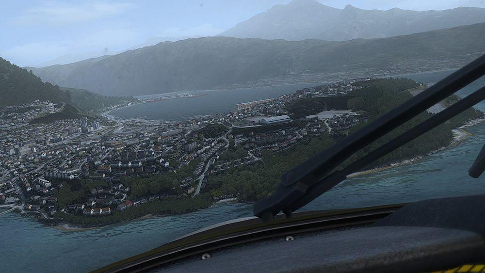 – Narvik har imponerende fjell og natur rundt flyplassen, og det er en spennende innflyging med hav på begge sider av den korte rullebanen, forteller Stranden til Gamer.no