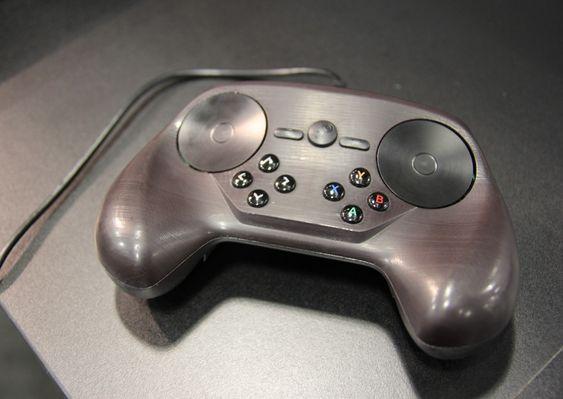 Prototypen av Steam-kontrolleren. (Foto: Jens Erik Vaaler/Gamer.no).