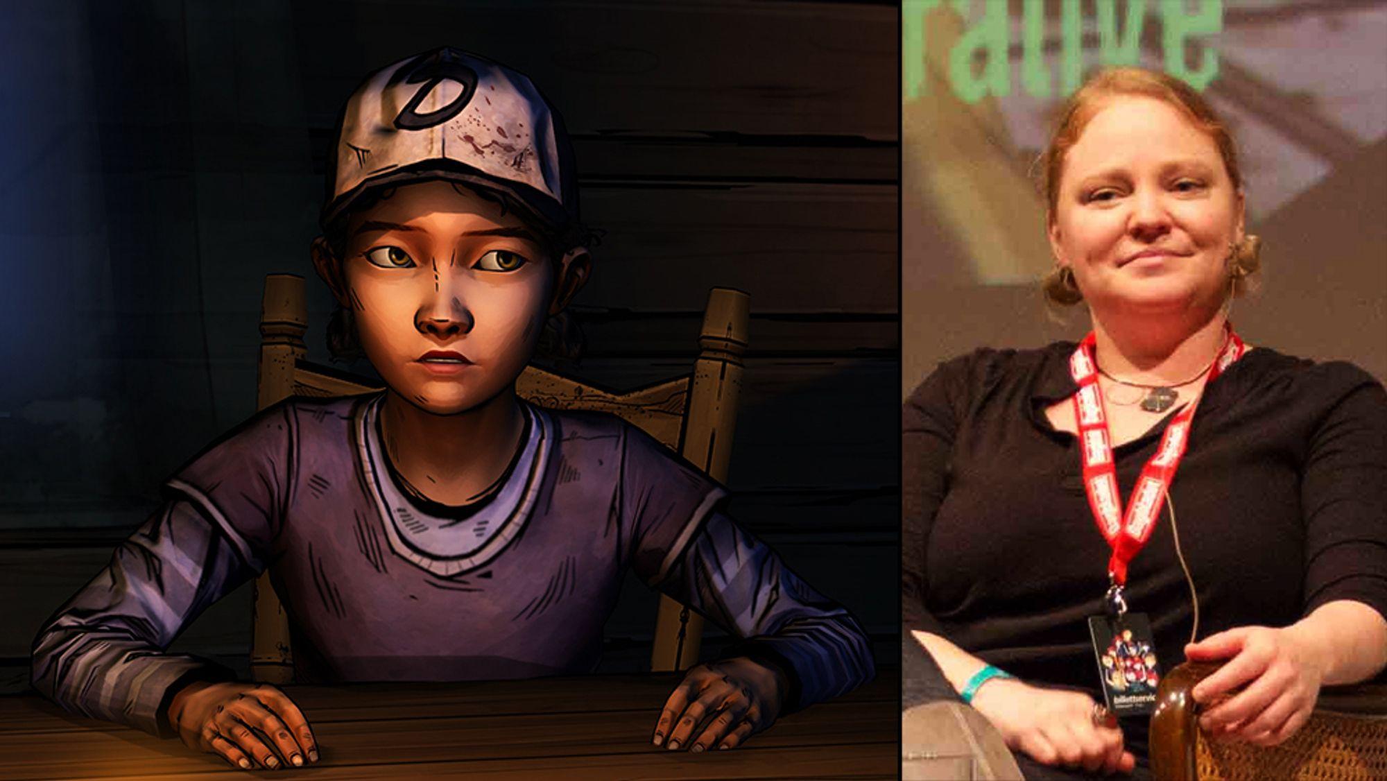 Melissa Hutchinson lånte bort stemmen sin til Clementine i The Walking Dead.