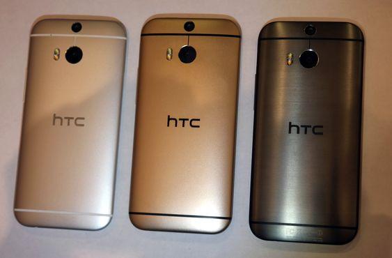 HTC One M8 kommer i tre farger.