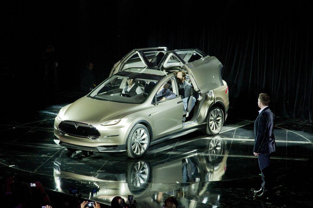 Fra lanseringen av Tesla Model X.