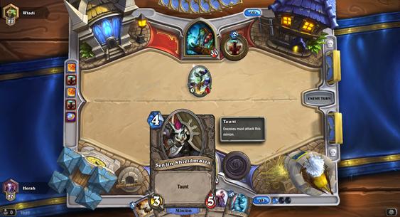 Taunt betyr at det kortet må angripes så lenge det ligger på brettet.