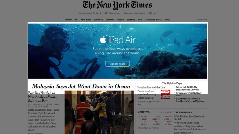 Apple med uheldig plassering av «Air»-annonse