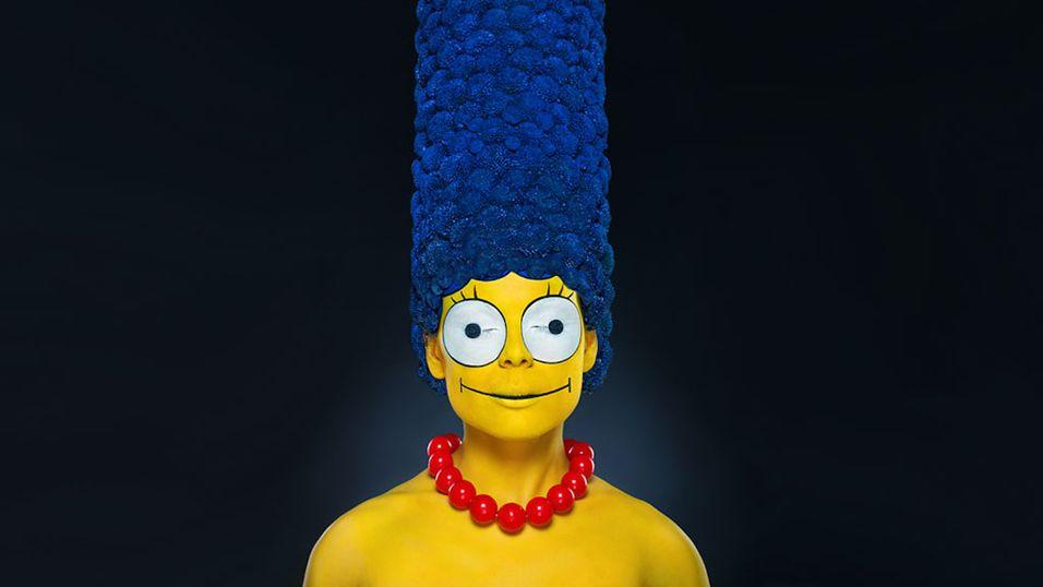 Slik ville Marge Simpson sett ut i virkeligheten
