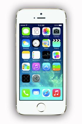 Apples iPhone 5S er en relativt liten smartmobil, med sin 4-tommers skjerm.