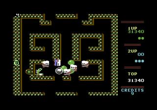 Samme brett på Commodore 64.