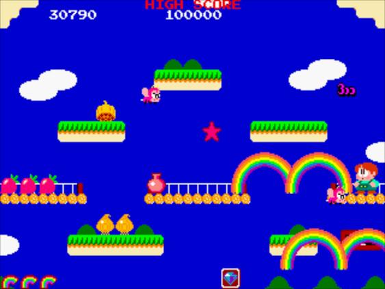 Mitsuji ville ikke gjenta seg selv. Derfor ble Bubble Bobbles oppfølger et ganske annerledes spill.