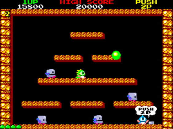 Bubble Bobble er et av favorittspillene mine.