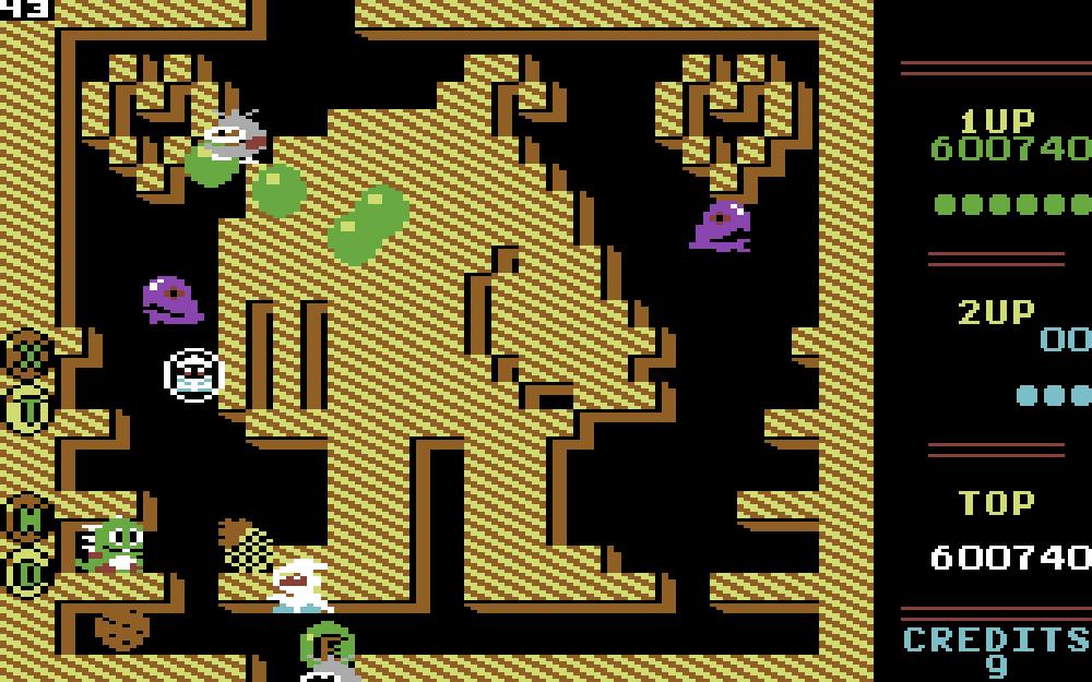 Bubble Bobbles inspirasjonskilde, Chack'n Pop, fikk et dedikert brett i spillet.