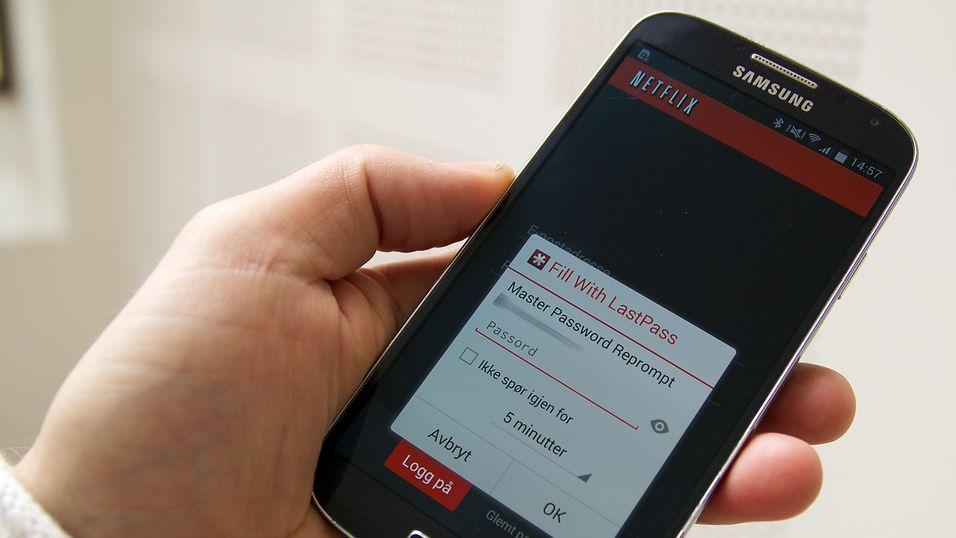 Denne appen fyller ut passordene på mobilen
