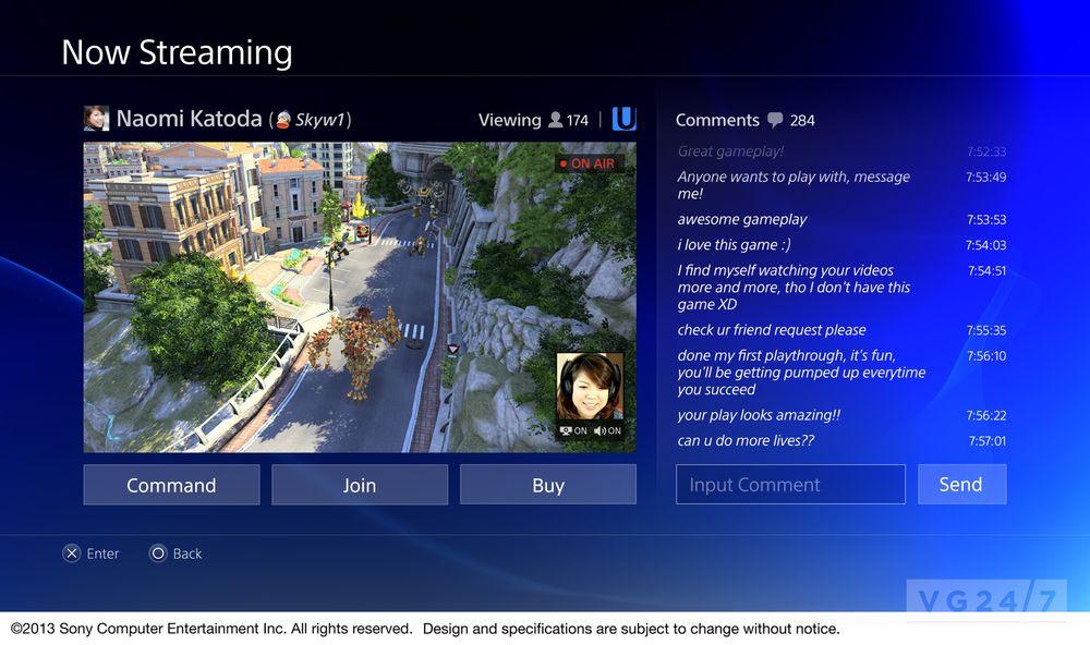 PlayStation 4 var først ute med en integrert løsning for Twitch. Dette gjør det veldig lett å strømme spilløkter på nettet og kommunisere med seerne.