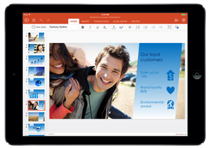 PowerPoint for iPad.