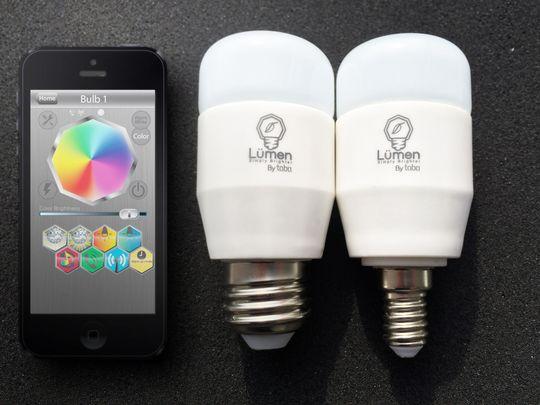 Lyspærer kan styres direkte av telefonen.