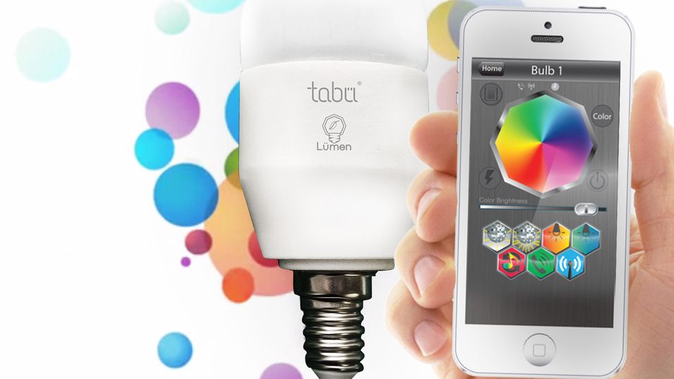 Lyspæren du kan styre fra mobiltelefonen din