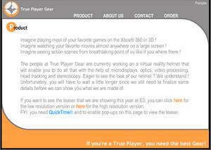 Nettsiden til True Gaming Gear så slik ut for bare en uke siden.