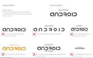 Slik, og ikke slik. Google bestemmer i detalj hvordan logoen skal vises.