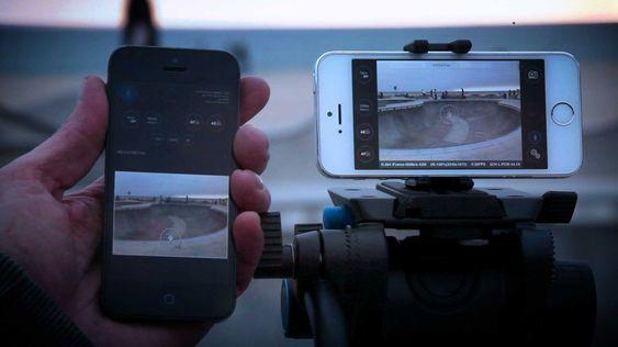 Med fjernkontroll-appen kan du fjernstyre videoopptakene.