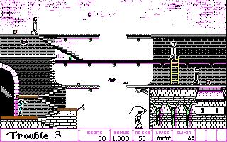 DOS-versjonen har farger, men dårligere oppløsning.