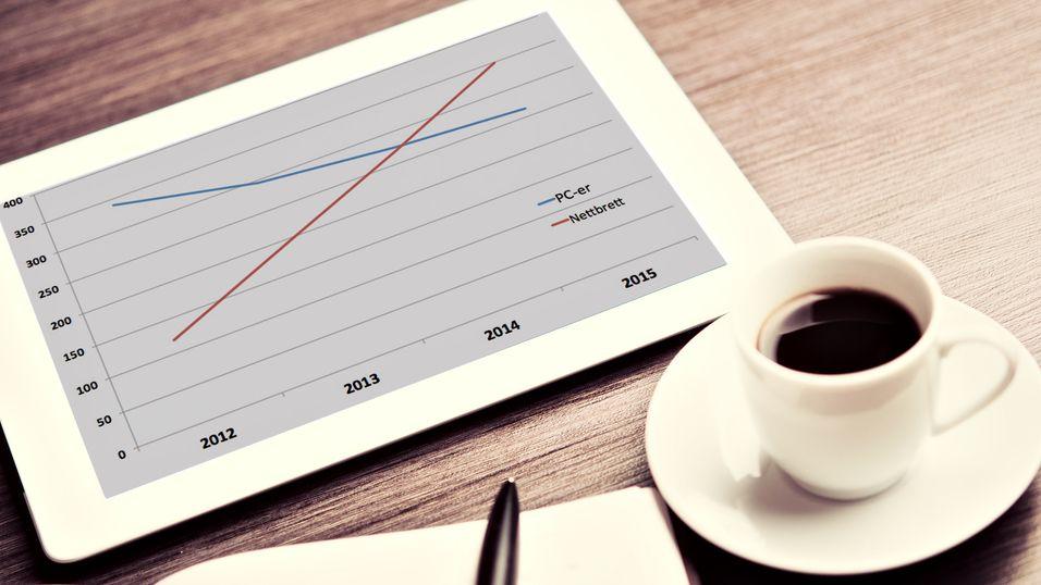 Nettbrett-salget passerer PC-salget i løpet av 2014, tror Gartner.