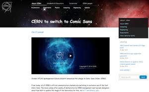 CERN går over til Comic Sans.