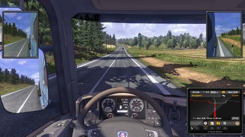 Alene på landeveien i Euro Truck Simulator.