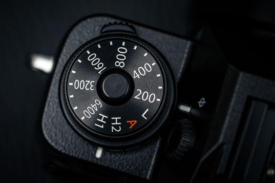 X-T1 har et eget hjul for ISO.