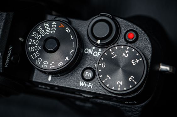 XT-1s hjul for lukkertid og eksponeringskompensasjon.