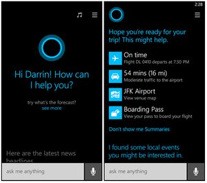 Microsofts taleassistent Cortana.