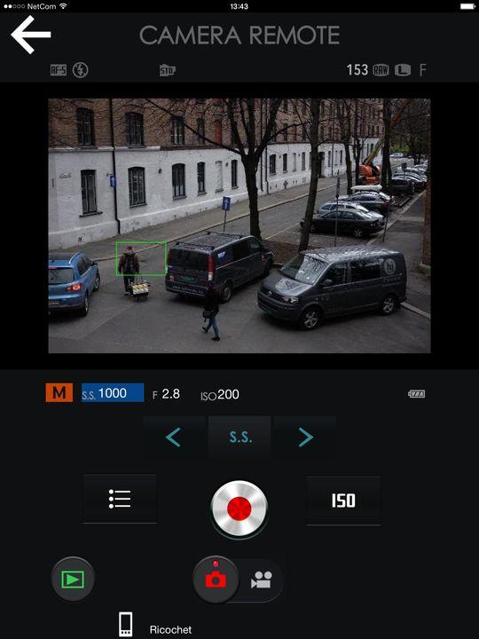Fujifilms Remote-app.