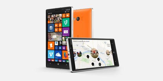 Lumia 930 er flaggskipmodellen. Den er like kraftig som Lumia 1520, men skjermstørrelsen er redusert fra 6 til 5 tommer.