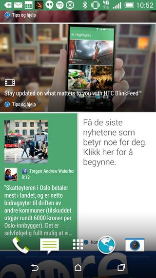 Slik kan Blinkfeed-forsiden se ut.