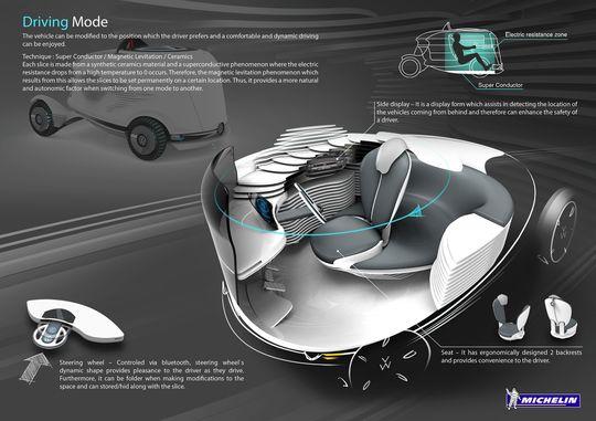 """Her vises den såkalte """"Driving Mode"""", der du selv kan ta kontroll over bilen."""